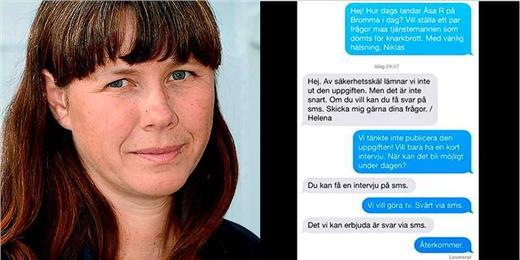 Åsa Romson SMS