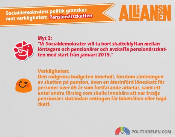 Socialdemokratins myter 3 Pensionärsskatten