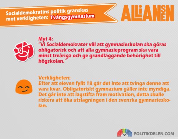 Socialdemokratins myter 4 Tvångsgymnasium