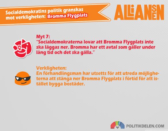 Socialdemokratins myter 7 Bromma Flygplats