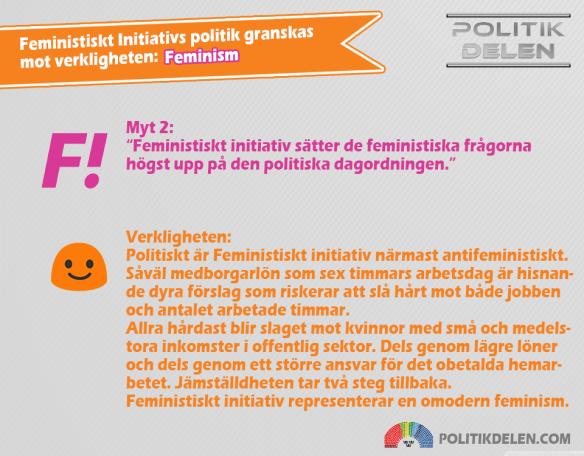 Feministiskt Initiativs myter 2 Feminism
