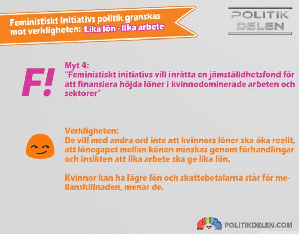 Feministiskt Initiativs myter 4 Lika lön lika arbete