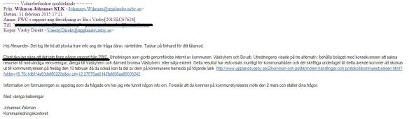 PwC rapporten finns inte email