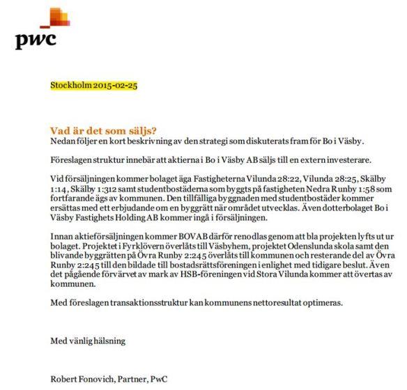 PwC rapporten som finns