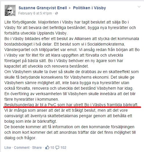 Suzanne Granqvist Enell - PwC Beslutsunderlag